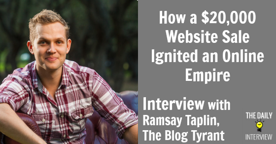 How a $20,000 Website Sale Ignited an Online Empire with Ramsay Taplin (@BlogTyrant) http://t.co/OCjD9Orhp3 #blogging http://t.co/xy7xDcvB67