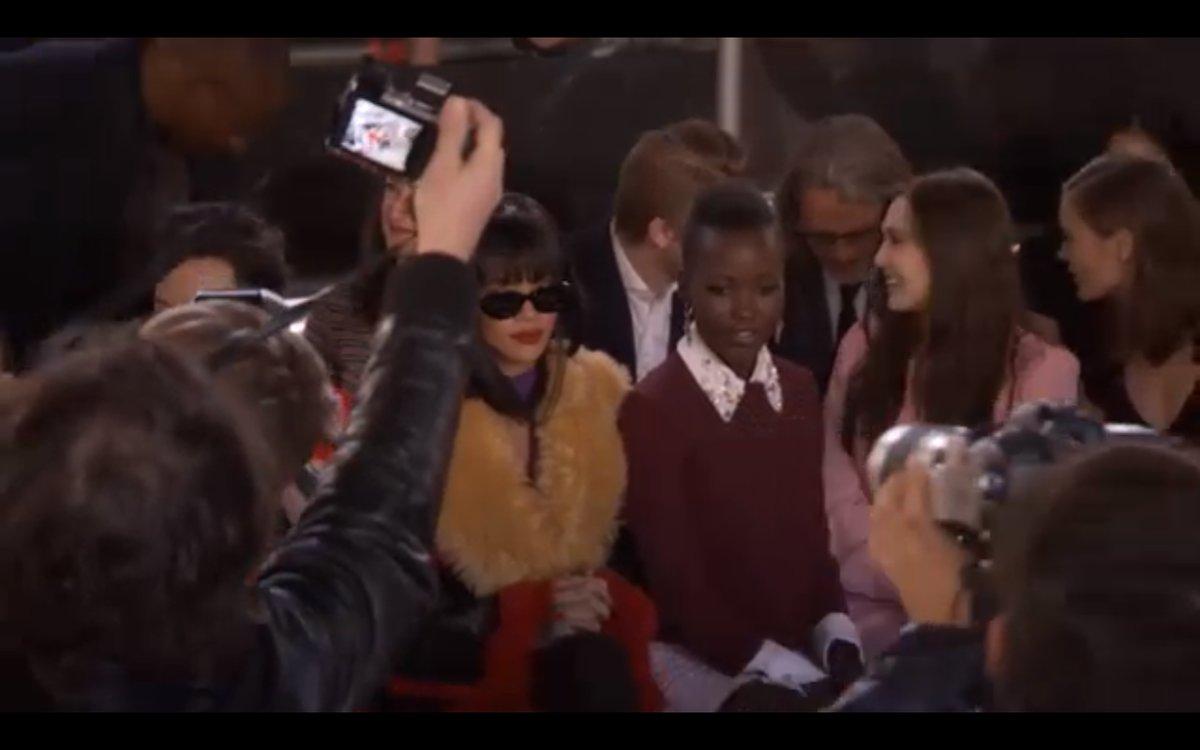 Lupita Nyong'o Isn't The Only Big Star Front Row At Miu Miu For Paris Fashion Week Fall 2014