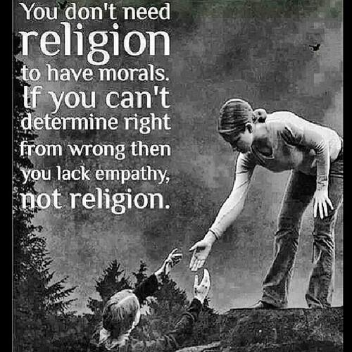 Morality does not depend on religion. #morality #religion #atheism http://t.co/CVmsagrgae