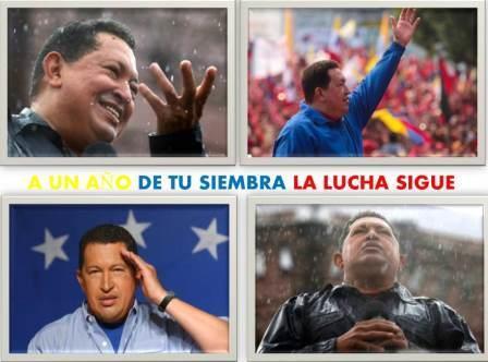 Tuiteros y tuiteras posicionan la etiqueta #A1AñoDeTuSiembraComandante en homenaje al Líder Invicto Hugo Chávez. http://t.co/cxsHtJWisl
