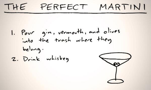 Recipe for the perfect martini... http://t.co/OYWgyPBvZB