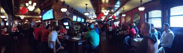 Hudson's in #YXE is already packed and LOUD for this #CANvsUSA game. Should be a wild day #skcbc #cbcyxe http://t.co/4X3EFXruK4