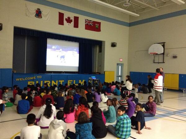 Cheering on Canada in the Gym! #GoCanadaGo #WeAreWinter @PeelSchools http://t.co/AijtCYv09M