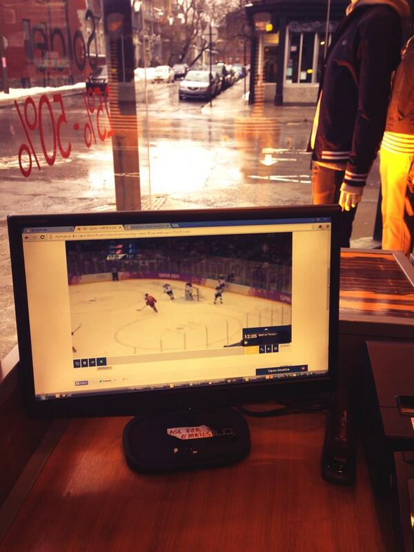 #WeAreWinter working + watching the game. Only during the Olympics ... go Canada !! http://t.co/rFxMMqo4rQ