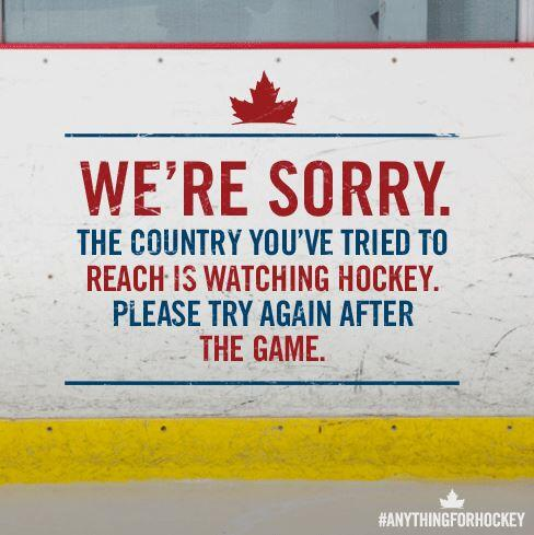 Sorry, Canada is closed this morning due to hockey!! Please try again later... #GoCanadaGo http://t.co/s4noYl1Sgj