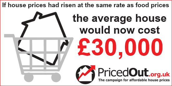 If house prices had risen at the same rate as food prices, the average house would now cost £30,000