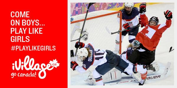 Hey CDN Men's Hockey Team! Some advice for  this afternoon: #PlayLikeGirls @hockeycanda  #WeAreWinter #GoCanadaGo http://t.co/Is23DC7lTs