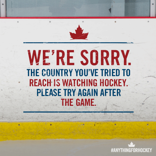 Haha! RT @Molson_Canadian Good luck trying to reach anyone in Canada today http://t.co/pXzaZUkoSG