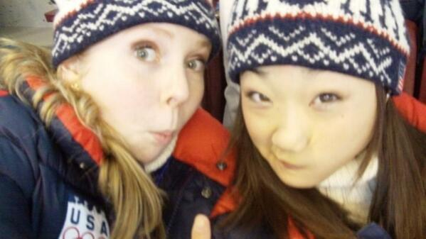 #FlashBackFriday - Clowning around with @mirai_nagasu #2010Olympics http://t.co/Wit4OjKQIy