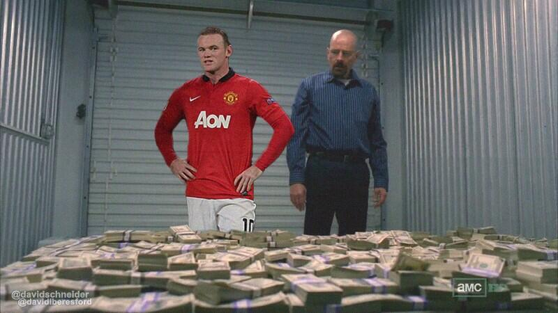 Rooney shown his new weekly wage by his agent, Walter White http://t.co/I6rRiyLgeQ