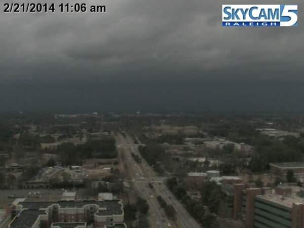 Whoa. RT @nsj: DOWNTOWN RALEIGH This is your 10-min warning! Get inside & ride this out. 57mph gust near Morrisville! http://t.co/4F0LVgYRjI
