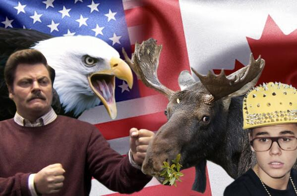 'Merica vs. Canada Hockey Rivalry Plays Out in Bald Eagles and Bieber
