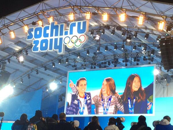 A Golden Moment on the Sochi Stage for Maddie Bowman! http://t.co/aRxLDG2mYS