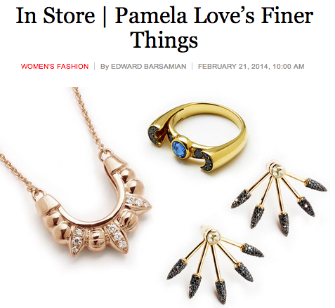 Introducing Pamela Love Fine. Available exclusively at @BarneysNY Read more on @tmagazine http://t.co/WmmpQHbLZh http://t.co/dfY9aAl8cS