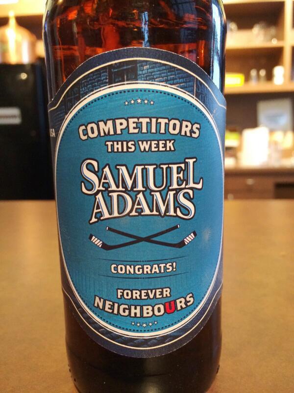 Beer the #US sent #Canada is actually pretty cool: http://t.co/QbzYTJCLBa http://t.co/SGbrmxaxtA #Politics #Hockey #Olympics #Sochi14 #Sochi