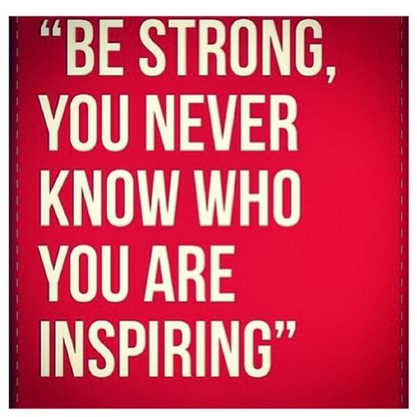 Inky Johnson On Twitter Be Strong You Never Know Who You Are