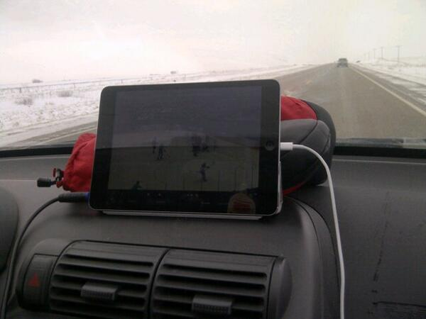 Watching the Canada/USA game on route to #Banff http://t.co/MqyeN2neFe