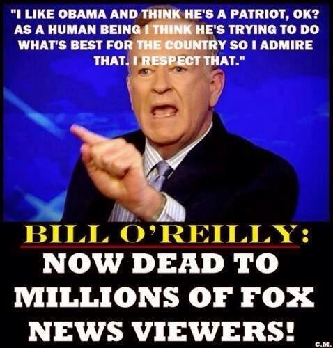 #Bill #OReilly has gone Senile if he thinks #Obozo is a Patriot http://t.co/V7LX4YZlVx
