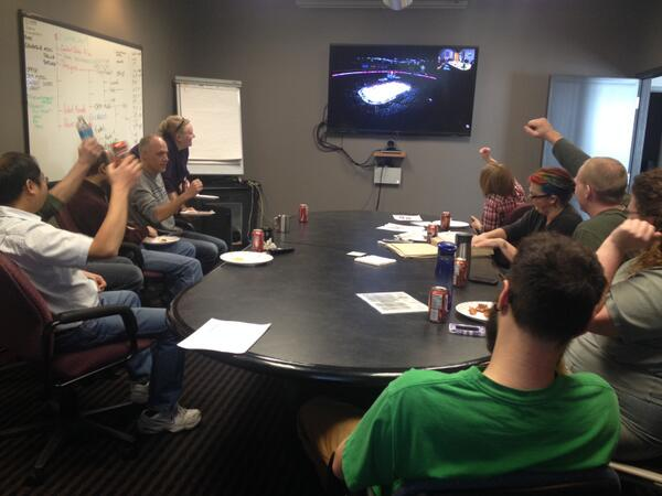 No better way to spend Friday lunch than a video conf between our US & CDN offices watching the hockey semi finals. http://t.co/30hKk6uqAE