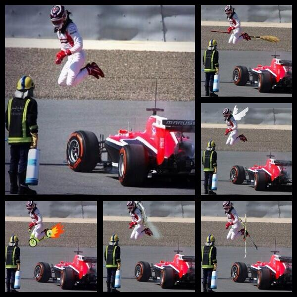 Lots of tweets coming in about my jump from the car so I thought I would share the best edits! Twitter at its best