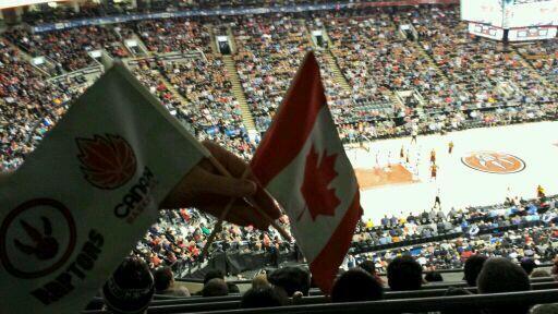 Got our Canadian Basketball Spirit Flags! #RTZ #GoRaptorsGo #Raptors http://t.co/uw21GyWleL