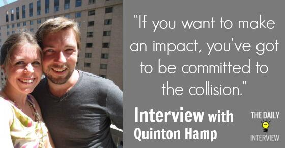 """Great advice: """"If you want to make an impact, you've got to be committed to the collision."""" http://t.co/NUMPCTPMHv http://t.co/lGjOgFIG2k"""