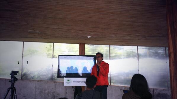 Sharing on Wego Hangout Bandung