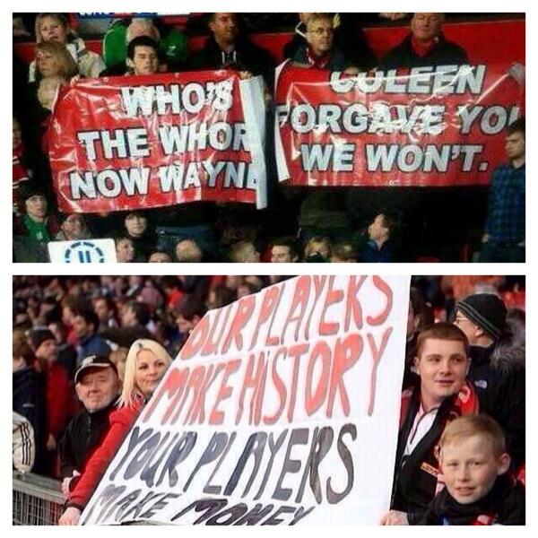 Whatever you think of United fans, you could never call them hypocrites