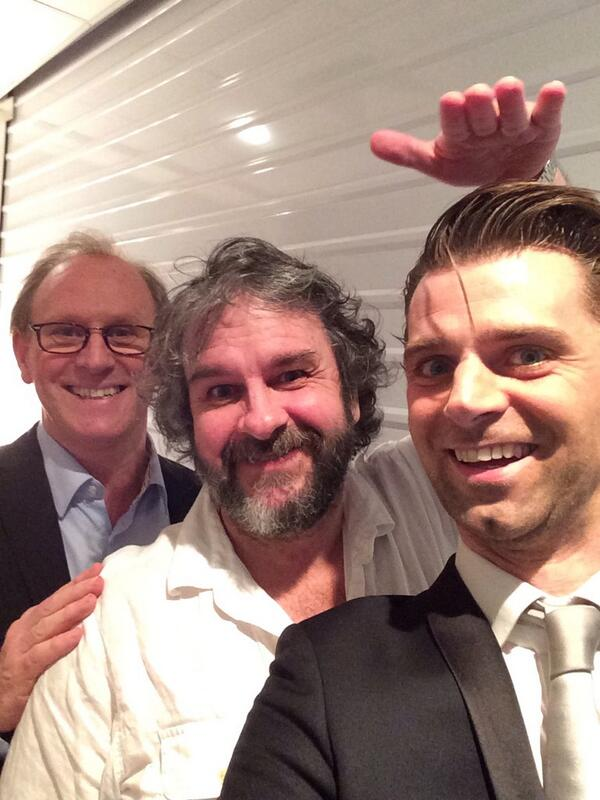 best and last photobomb of the tour - With two fantastic Peters !! @PeterDavison5  #dwss http://t.co/N0zKIkordM