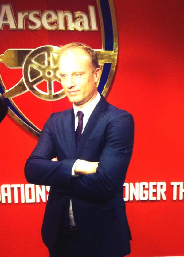 A resplendent looking Dennis Bergkamp is back at Arsenal for his statue unveiling