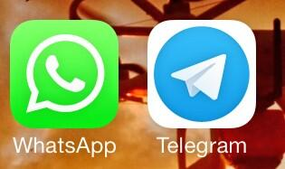 WhatsApp caído durante más de 2,5 horas, ahora APP @Telegram informa más de 6.000 nuevos usuarios por minuto http://t.co/cPlJfpd6kp