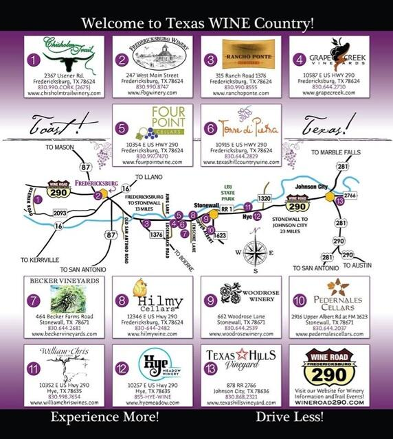 Map Of Texas Wineries.Wine Road 290 On Twitter Slateclean Here S A Map Our Facebook
