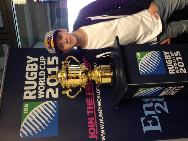 .@NiallOfficial with the Webb Ellis Cup. He's joined the Front Row (http://t.co/awKWc6DoSK) have you? http://t.co/UWc8pjlpp8