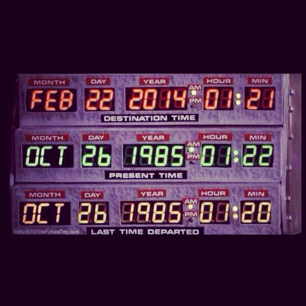Today is the day Marty McFly went Back to the Future! And you thought today was just Saturday! #kidsdr http://t.co/cL0CE0Xw1q