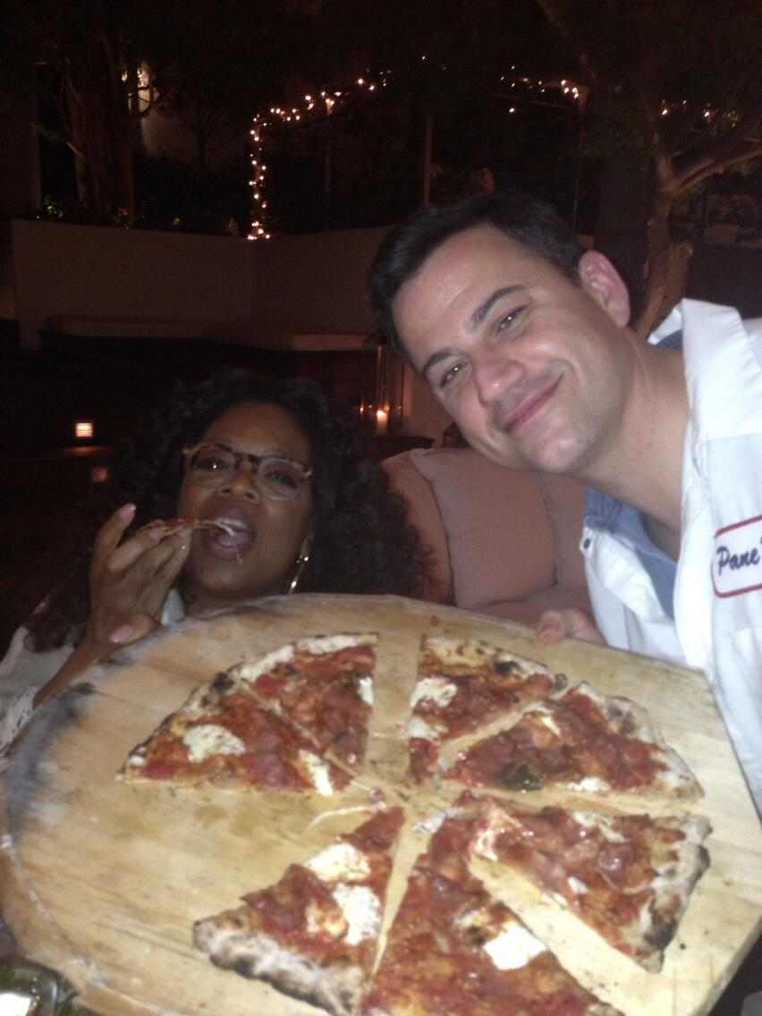 So delicious, I 'm still thinking about that mozzarella. Thanks @jimmykimmel #greatchef http://t.co/SAFhqsa3EX