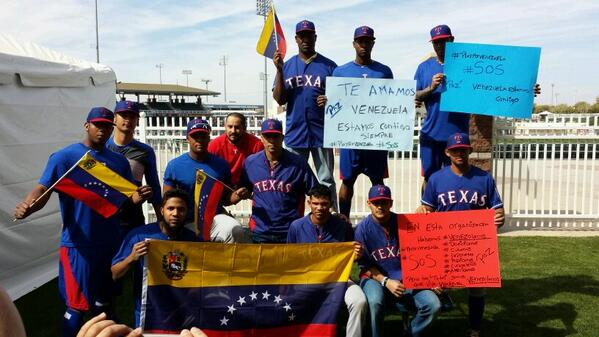 Rangers with their thoughts on Venezuela. http://t.co/dhOkhJUwkI