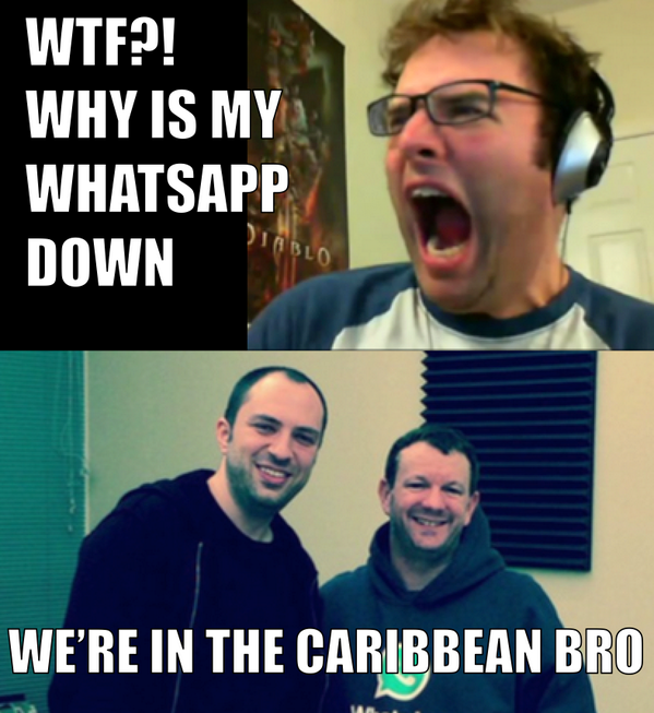 If you ask the Internet 'Why is WhatsApp down?', everyone - EVERYONE - will give you the same answer. http://t.co/8ZSYDBdW9c