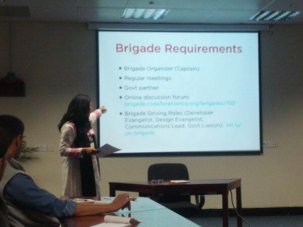 Here are a few requirements for a brigade, being explained in detail by @snajmi #LHRBrigade #CodeAcross http://t.co/naqa4VYpqC