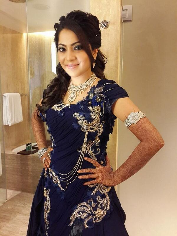 Bhaagamathie On Twitter Beatific VJ Ramya With Her Wedding Reception Costume Look At Photos Here Tco XKCE29qMDw