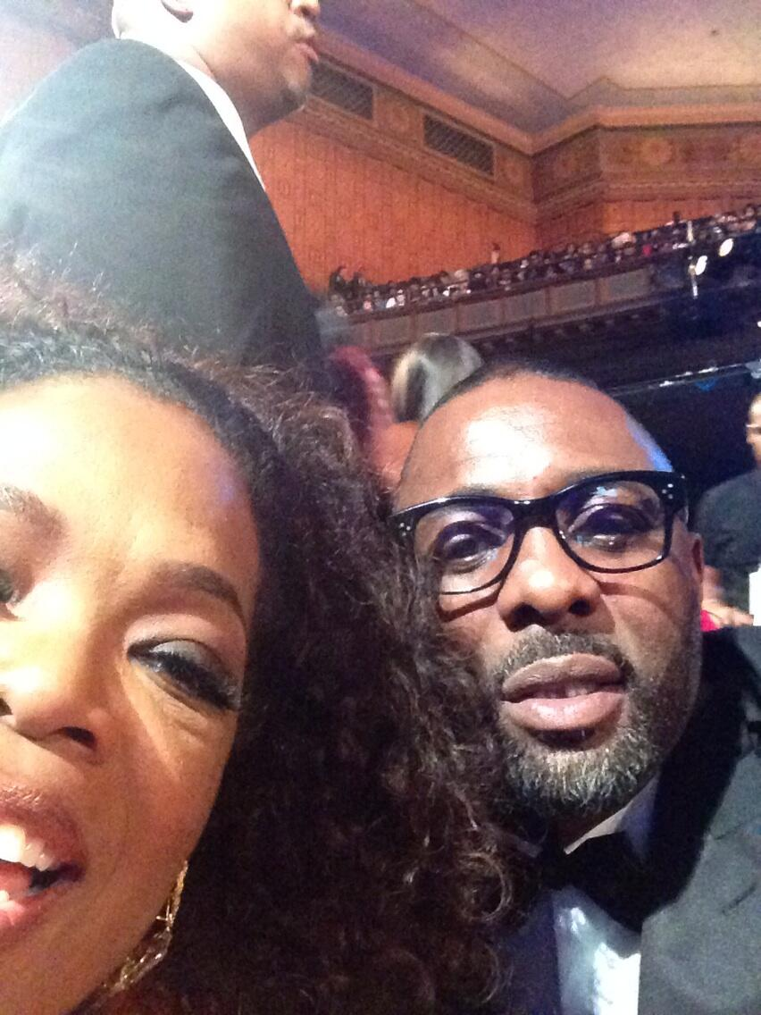 My first selfie. Love @idriselba! #imageawards http://t.co/m17kxQA38w