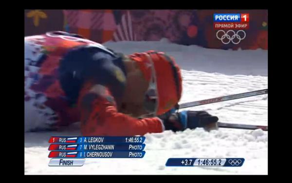ВПЕРВЫЕ в истории лыжни: ВСЕ 3 МЕДАЛИ НАШИ!  МЫ - ЧЕМПИОНЫ!  #Sochi2014 #Сочи2014 #победа #Россия http://t.co/031VDDpICB