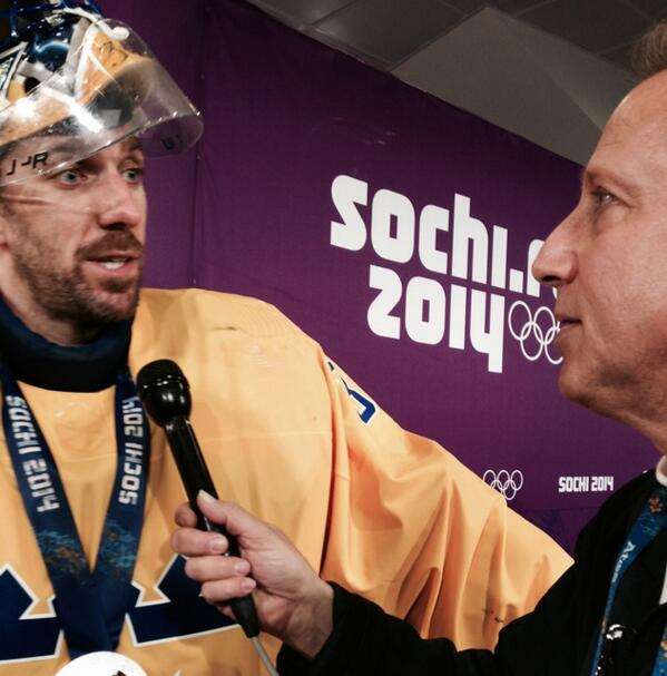 "King @HLundqvist30 -""proud 2 be here. It's disappointing but Sochi was awesome! I miss playing @TheGarden !"" http://t.co/RJViK1IwiG"