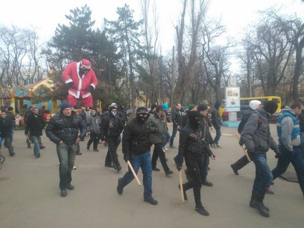 В Одессе намечаются столкновение с титушками