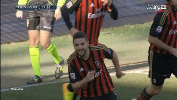 Adel Taarabts renaissance continues as the QPR loanee fired AC Milan ahead at Sampdoria