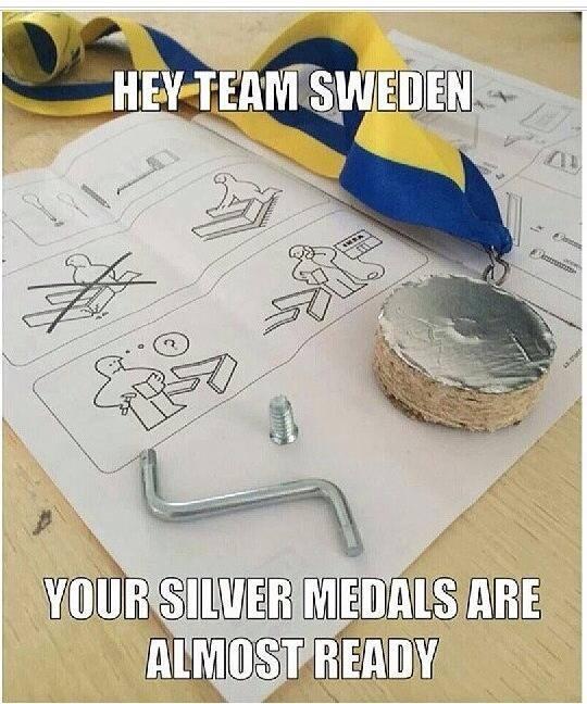 """""""Эй, шведы, ваши серебряные медали почти готовы!"""""""