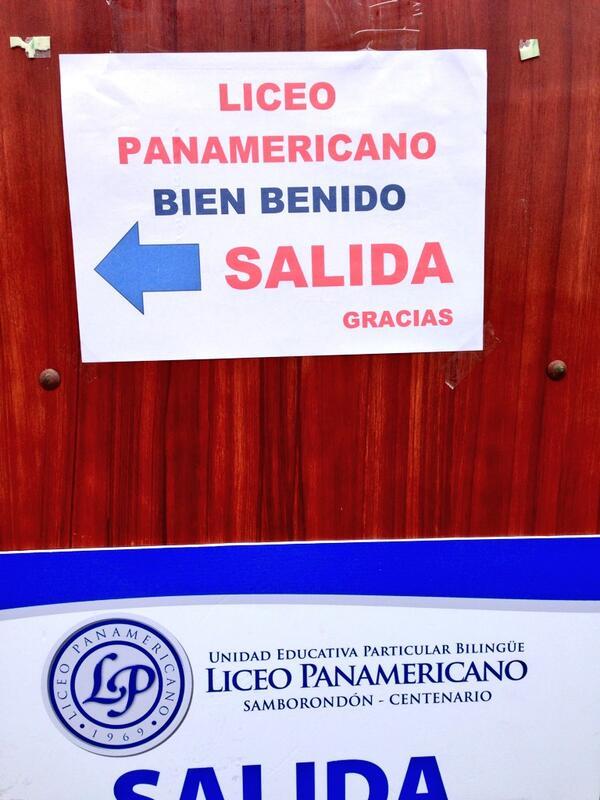 El Liceo Panamericano les da la BienBenida a los votantes. http://t.co/NsgD0KaBKv