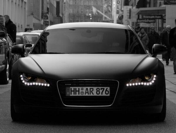 Muscle Cars On Twitter Matte Black Audi R8 Http T Co K8135vnuff