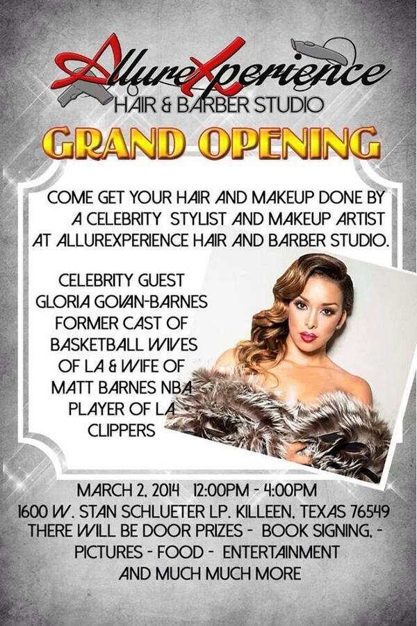 #Killeen! I'm so excited to host the grand opening of @AllureXperience Salon next Sun. 3/2 from 12-4.See you there