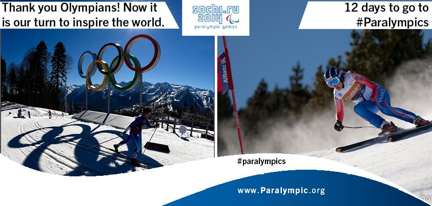 RT @Paralympic: Thank you @Sochi2014 @Olympics! Now it's our turn :) http://t.co/iRj5SJWPP6