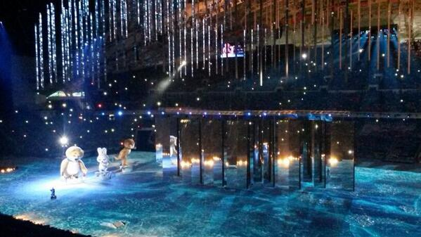 Winter Olympic Games Sochi - Closing Ceremony Mascots and Mirrors
